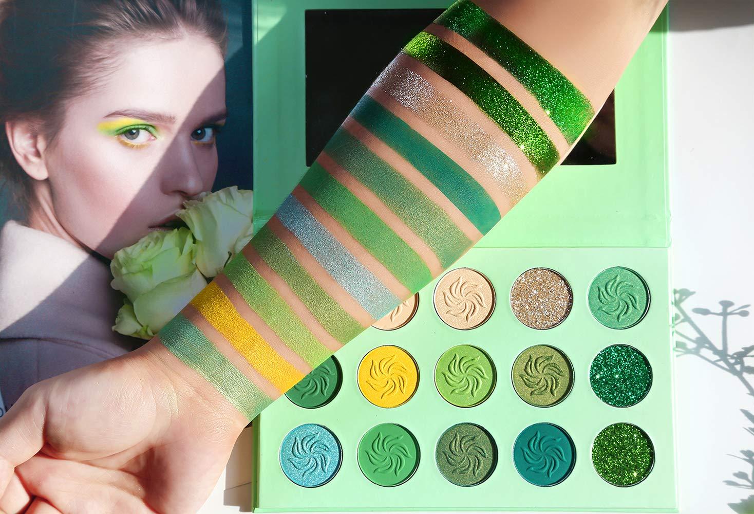 green eyeshadow pallete